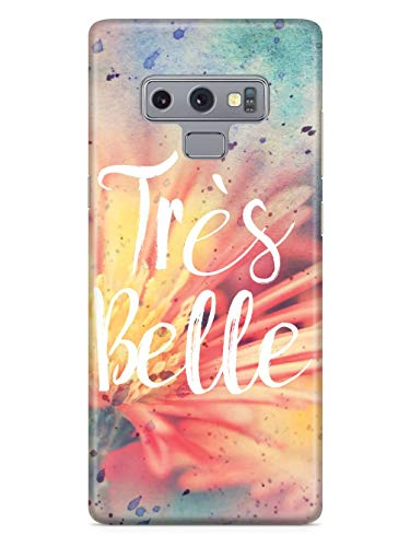 Inspired Cases - 3D Textured Galaxy Note 9 Case - Rubber Bumper Cover - Protective Phone Case for Samsung Galaxy Note 9 - Tres Belle (Tres Tres Belle Case)