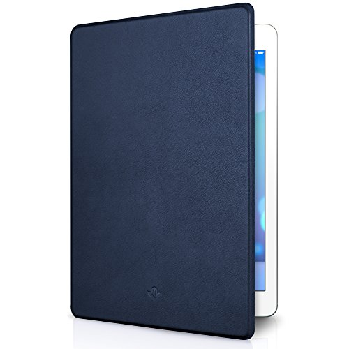Twelve South SurfacePad for iPad Air 2, midnight blue | Ultra-slim luxury leather cover + display (Napa Computer)
