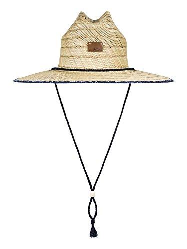 Roxy Women's Tomboy Printed Straw Hat - Dress Blues Geometric Feel, (Ml Straw Hat)