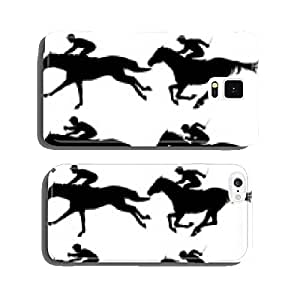 Racing horses cell phone cover case Samsung S6