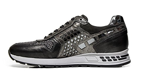 Nero GiardiniSneakers Femmes A616182D 105 Gris Made in Italy Automne Hiver 2016 2017