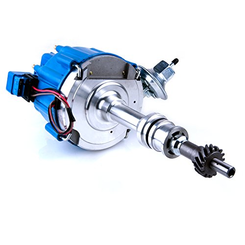 Brand New Compatible Ignition Distributor w/ Cap & Rotor 1046013 for Ford 351C 351M 400 429 460 HEI 65,000 Volt Coil KA-1046013 PE332U JM6506BL (Mustang Distributor)