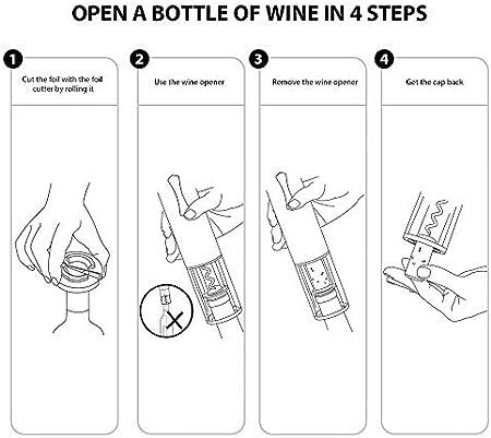 YFGQBCP Abrelatas del Vino, Botella de Vino del sacacorchos abrelatas eléctrico, abrelatas del Vino con la lámina cortadora, Mejor Regalo for los Amantes del Vino (Color : Red, Size : 1 Pack)