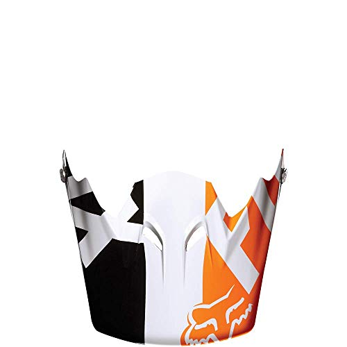 Fox 2015 Rampage Race Replacement Bicycle Helmet Visor - 13394 (White/Orange - One Size)