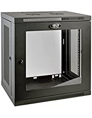 "Tripp Lite 12U Wall Mount Rack Enclosure Server Cabinet with Acrylic Glass Window, 16.5"" Deep, Switch-Depth, Black"