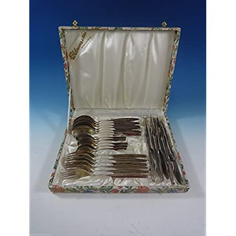 800 Silver Wmf 193 Flatware Set Service Dinner Size 24 Pieces In Vintage Box