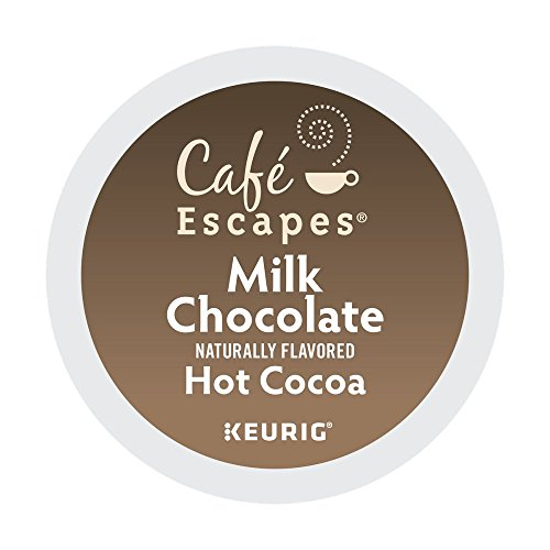 Keurig, Milk Chocolate Hot Cocoa, K-Cup packs - 72 count by Cafe Escapes (Capsules Mg 150 250)