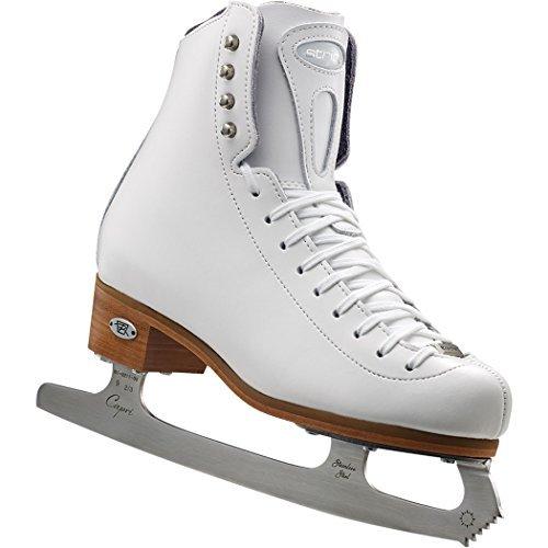 Riedell Stride Junior Girls Figure Skates with Eclipse Capri Blades - Junior Leather Hockey Skates