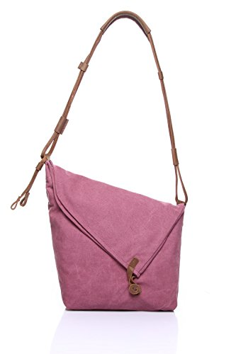 Ying Bolsa de mensajero de los hombres Bolsa de lona retro Hombro Horseskin Bolsa de los hombres Arte tendencia Unisex Bags Pink