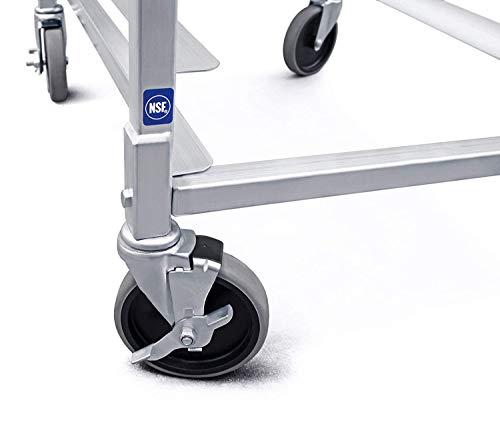 New Star Foodservice 36527 Commercial-Grade Aluminum 20-Tier Sheet Pan/Bun Pan Rack, 26'' L x 20'' W x 69'' H with Brake Wheels by New Star Foodservice (Image #6)