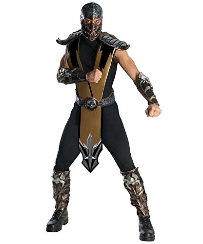 (Rubie's Mortal Kombat - Scorpion Deluxe Adult Costume - One-Size)