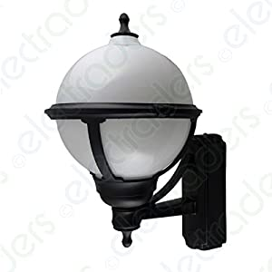 Globe External Wall Lights : ASD GL/BS100 Globe Wall Lantern External Light Fitting: Amazon.co.uk: DIY & Tools