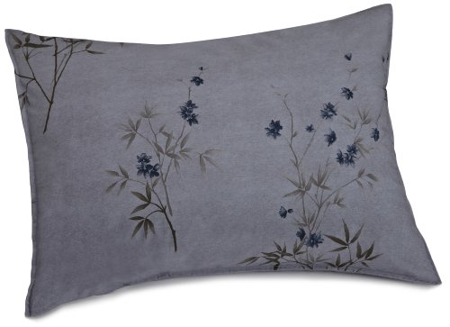 Calvin Klein Home Bamboo Flower Standard Sham, Hyacinth - Klein Bed Pillow