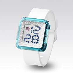 Zerone Dazzled Transparent Blue Swarovski Crystal Digital Watch
