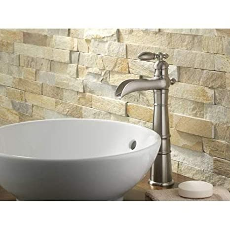 Delta Faucet Victorian Single-Handle Vessel Bathroom Faucet for Vessel Sinks Chrome 754LF