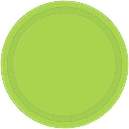 Amscan Kiwi Green Round Luncheon Paper Plates, 20 Ct.   Party Tableware