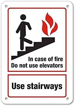 Amazon.com: En caso de incendio, no utilices ascensores ...