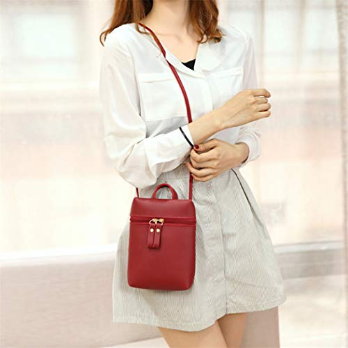 Phone Color Bag Candy Shoulder Bag Messenger Black One Mobile Wine Purse Women Small Alixyz Backpack 8xFAYq