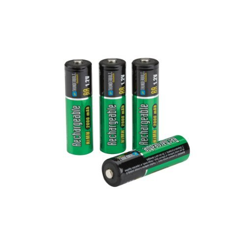 4 Piece AAA 700 mAh NiMH Rechargeable Batteries