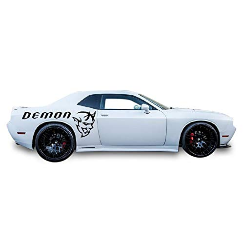 Bubbles Designs Decal Sticker Vinyl Racing Stripes Compatible with Dodge Challenger 2015-2018 Demon Edition