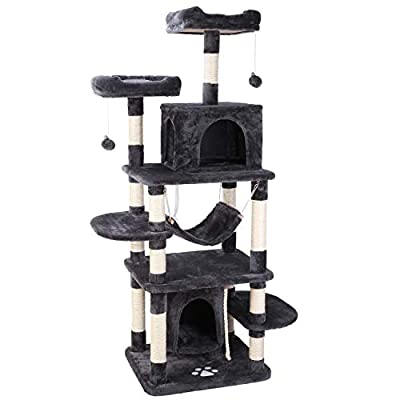 Cat Tree POTBY 67″ Multi-Level Cat Tree Play House Climber Activity Centre Tower Stand Furniture, with  [tag]