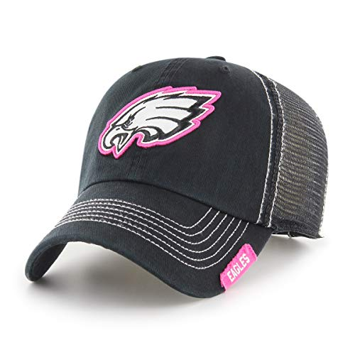 NFL Philadelphia Eagles Women's Rachel OTS Challenger Adjustable Hat, Black, Women's