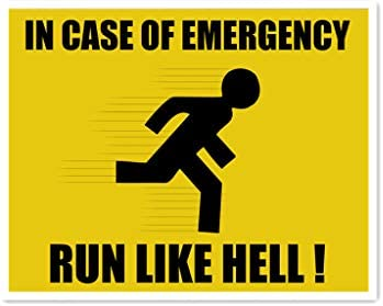 HALEY GAINES In Case of Emergency Run Like Hell Placa Cartel ...