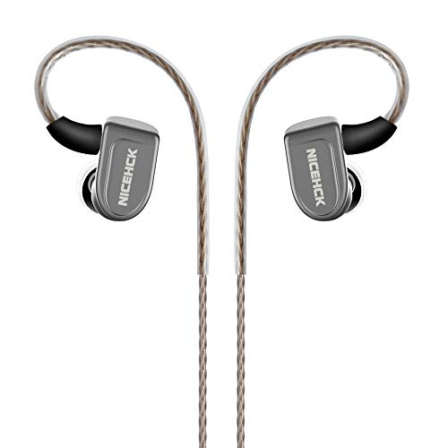 NICEHCK N3 2DD+Piezoelectric Ceramics Driver Hybrid 3 Units In Ear Earphone MMCX Detachable HIFI Earphone Metal Shell Dual Dynamic Driver With Sliver Plated Cable 3.5mm Plug High-end Hig (3.5mm, Gray)
