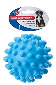 "Pet Supplies : Knobby Pet Ball : Bumpy 5"" Vinyl Toy Ball"