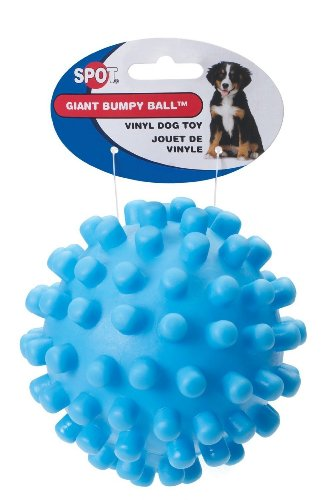 "Bumpy 5"" Vinyl Toy Ball With a Squeaker Assorted Size:Pack o"