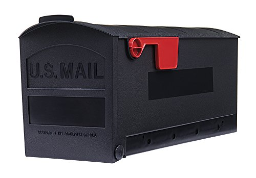 Gibraltar Patriot Rust-Proof Plastic Black Mailbox Mounting Board, GMB225B