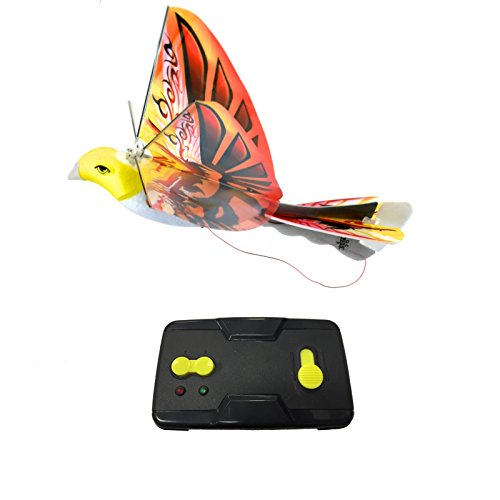 (MukikiM eBird Orange Phoenix - 2016 Creative Child Preferred Choice Award Winning Flying RC Toy - Remote Control Bionic Bird (Newest 2.4GHz Version Featuring USB Charging))