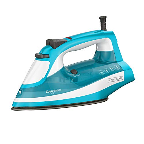 (BLACK+DECKER IR16X One-Step Garment Steam Iron with Stainless Nonstick Soleplate, One Size, Turquoise)