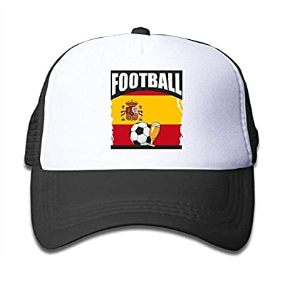 roylery Football Beer Soccer Spain Child Baby Kid Mesh Caps Adjustable Trucker Hats Summer Snapback