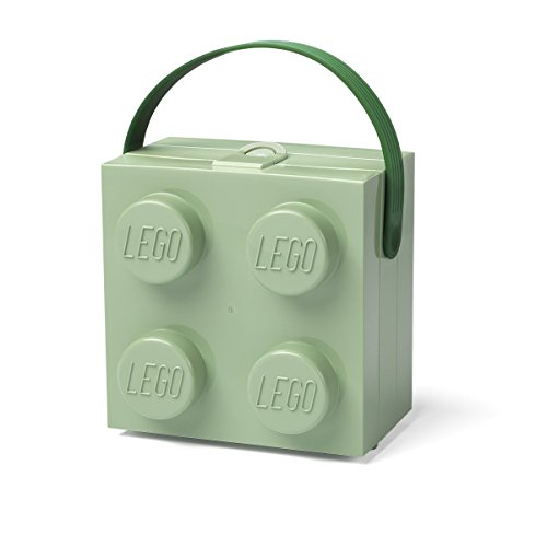 - LEGO Lunch Handle Portable Storage Box, Sand Green