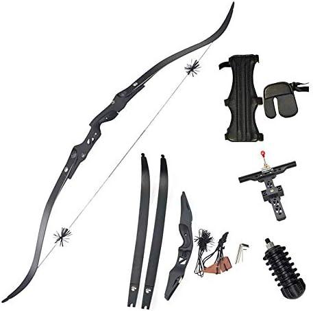 MILAEM 「RF3」60インチ リカーブボウ 狩猟弓 20~50LBS アーチェリー 弓 取り外し可能 ロングボウ 弓矢 弓道練習専用弓 右利き長弓  50LBS