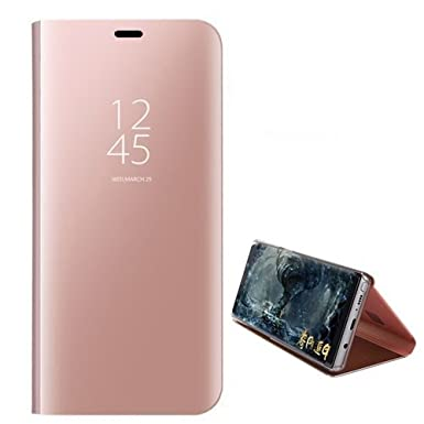 samsung s8 flip phone case rose gold
