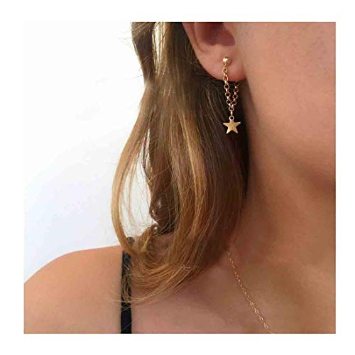 Olbye Star Earrings Gold Star Drop Earrings Charm Earring Jewelry for Women and - Gold Charm Small Star