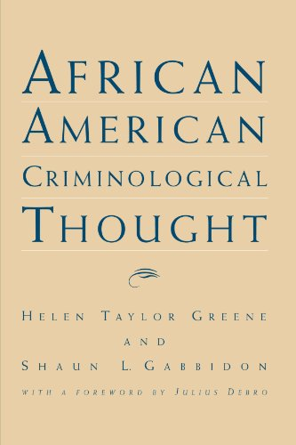 Books : African American Criminological Thought