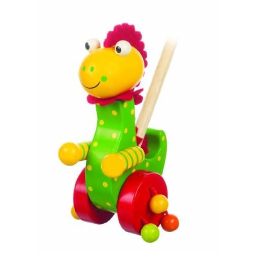 Dinosaur Push Along / Dinosaur pousser. Jouet en bois.