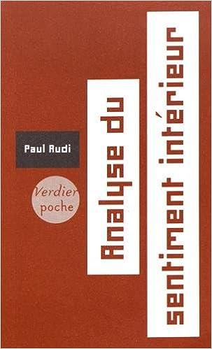 Analyse du sentiment intérieur: Amazon.de: Paul Audi: Fremdsprachige ...