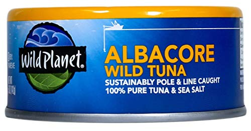 Wild Planet Albacore Wild Tuna, Sea Salt, 5 Ounce (Pack of 12)