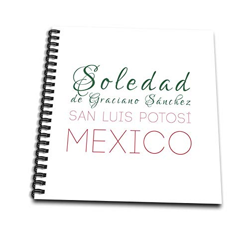 3dRose Alexis Design - Mexican Cities - Soledad de Graciano Sánchez, San Luis Potosi patriot Mexico design - Memory Book 12 x 12 inch (db_313533_2)