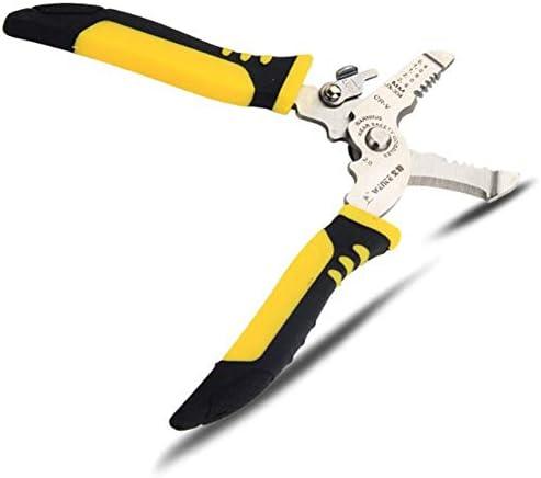 Alician ワイヤーストリッパーマルチツールストリッピングプライヤー電気技師ハンドツール 1つの多機能ワイヤーストリッパーに付き5つ 家庭用ツール