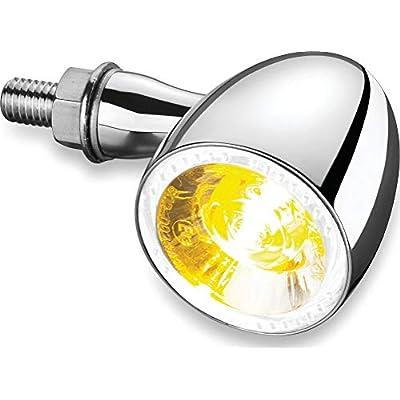 Kuryakyn 2552 Motorcycle Lighting Accessory: Kellermann Bullet 1000 PL, Front LED Running/Turn Signal/Blinker Light, White/Amber, Chrome, Pack of 1: Automotive
