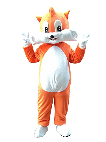 Fox Mascot Costume Cosplay Fancy Dress Outfit
