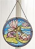 Beautiful Multicolor Glass Suncatcher with Fairy Design (PinkWings)