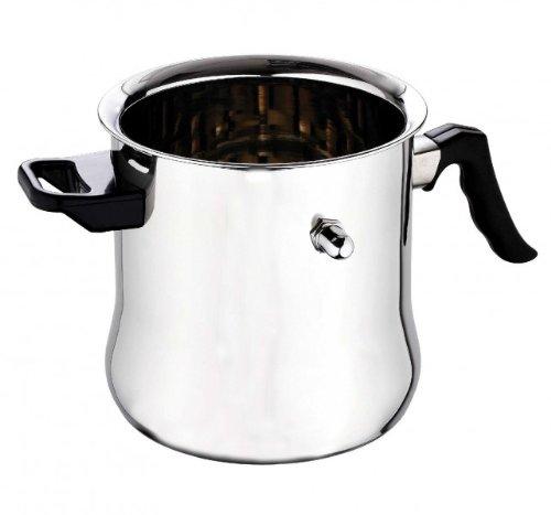 Edelstahl Milchtopf 2,5 Liter - Induktion - Milchkocher - Milch Topf - Simmertopf - Milcherwärmer - Wasserbadtopf - Wasserbadkocher