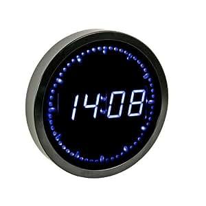 Reloj de pared con Leds Ø 25cm - Azul