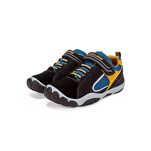 Dr.mama Sportschuhe Sneaker für Jungen Mädchen Hallenschuhe Laufschuhe Outdoor Schuhe Rutschfeste-BK-37